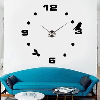 39w diy 3d mirror black sticker wall clock >>> wow! i love this