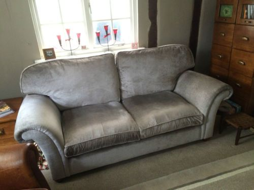 Laura Ashley Mortimer Sofa In Villandry French Grey With Arm Caps