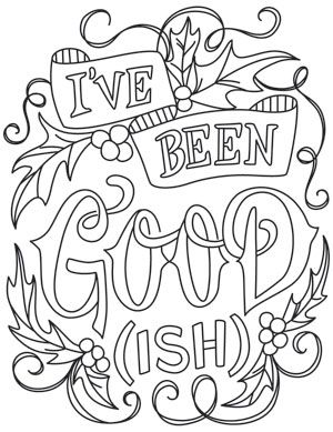 Make A Very Merry Statement With This Design Stitched On Shirts And More Downloads As Adult Coloring PagesColoring