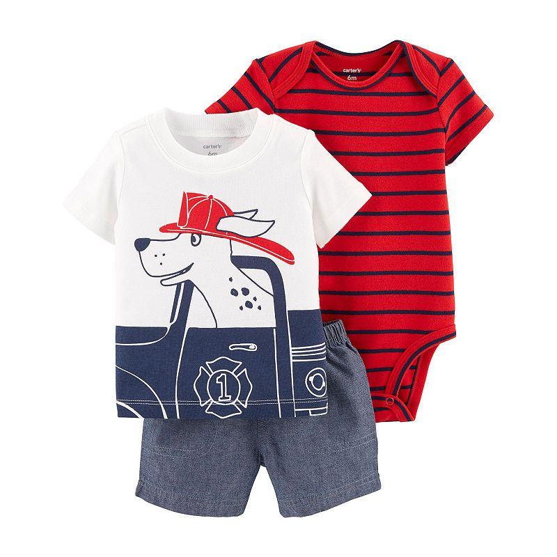 Carter's 3-Pc. Bodysuit Set - Baby Boys | Boys summer ...