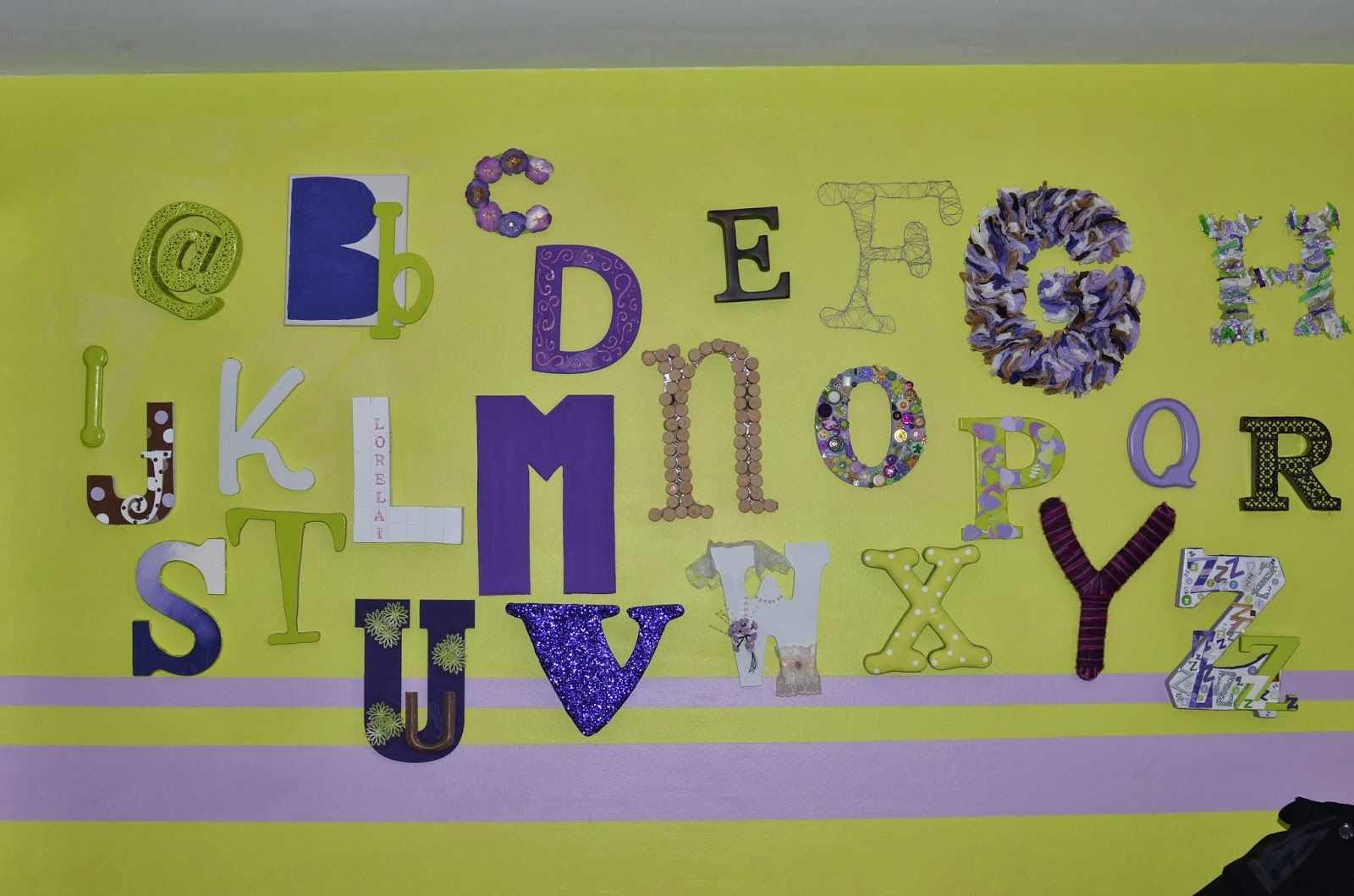 Mega Monkey Mash: DIY Eclectic Alphabet Wall Art: Par… | Mega Monkey ...
