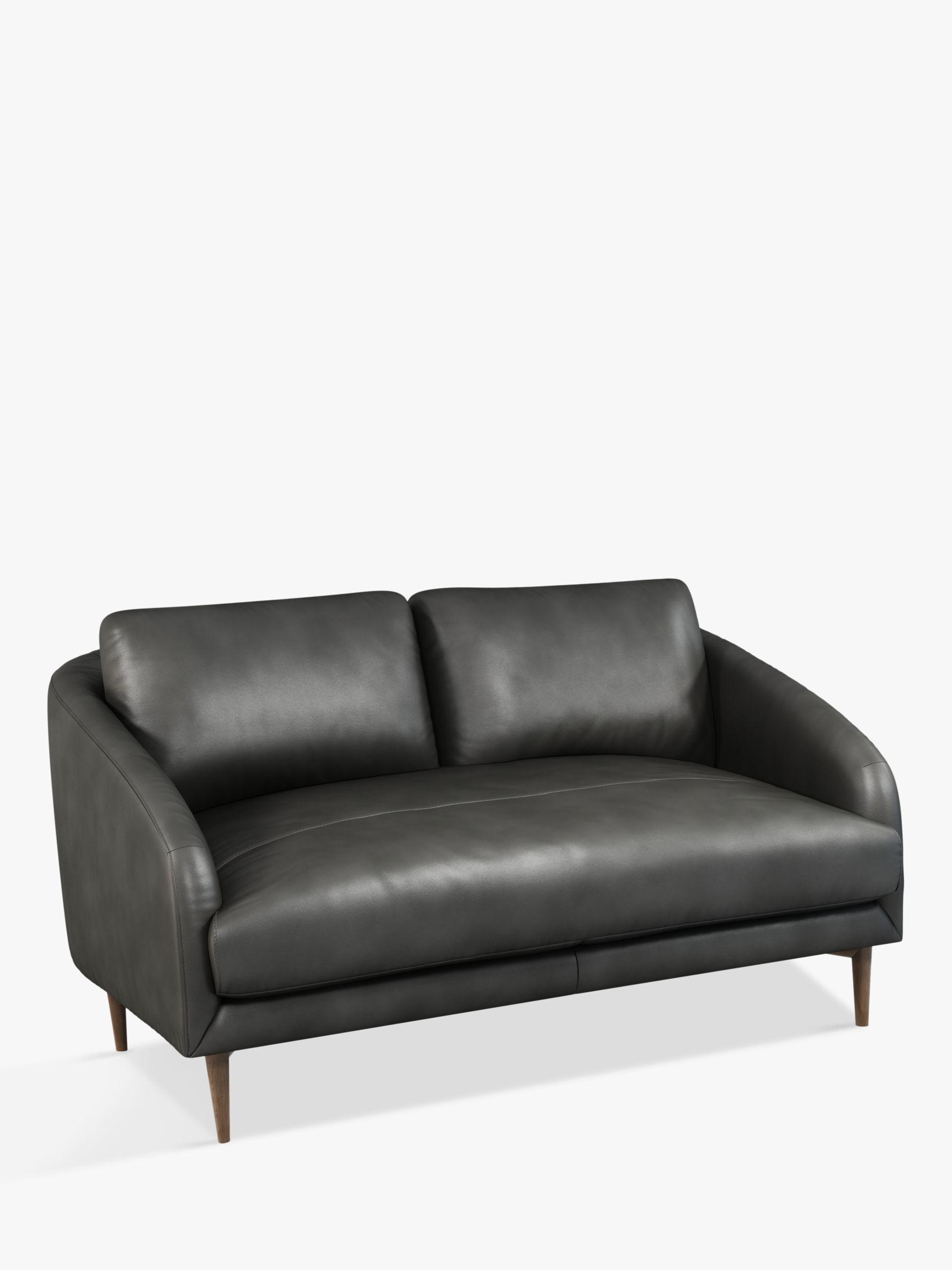 John Lewis Partners Cape Small 2 Seater Leather Sofa Dark Leg