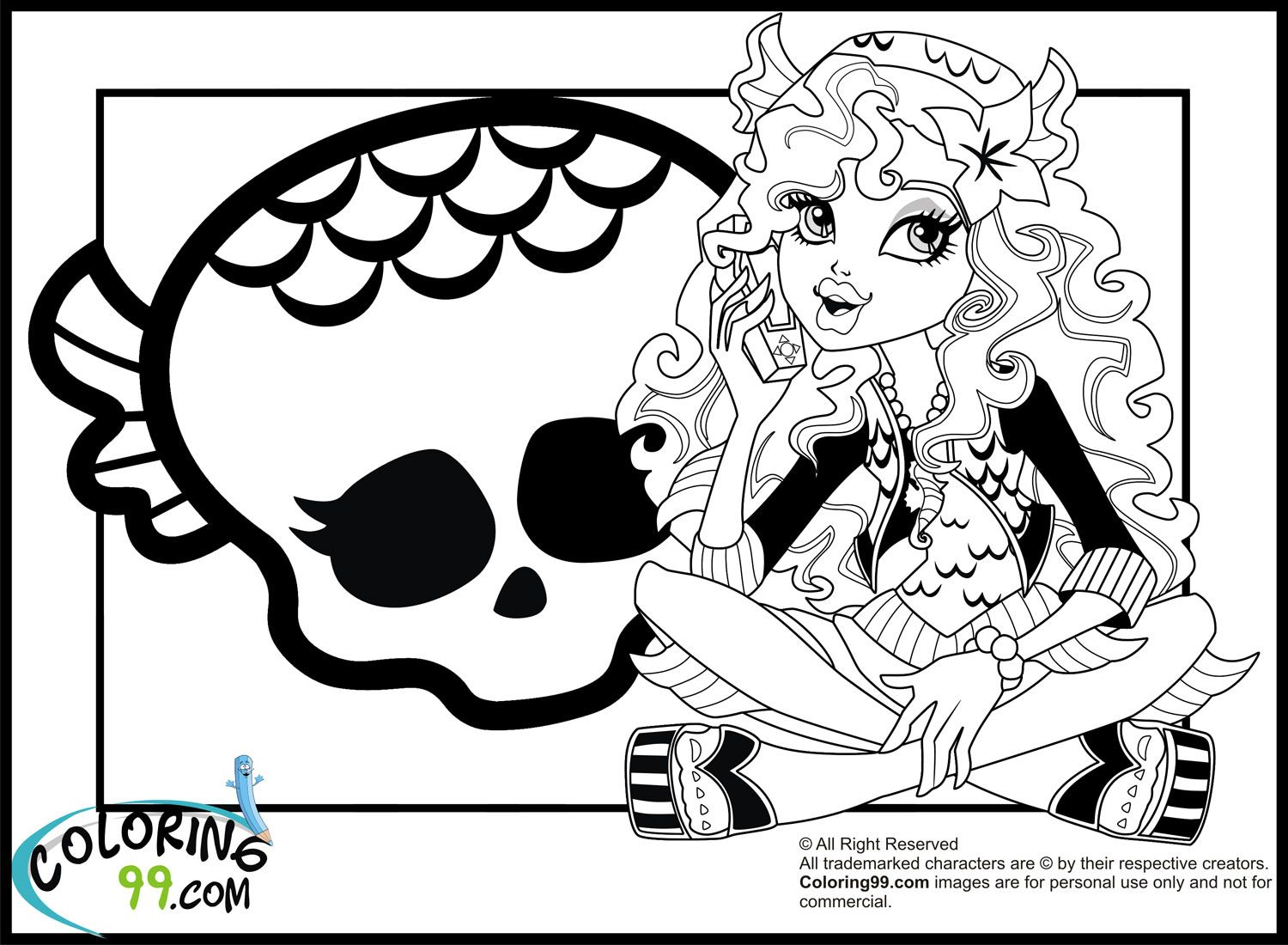 Monster High Coloring Pages – Monster High Lagoona Blue Coloring ...