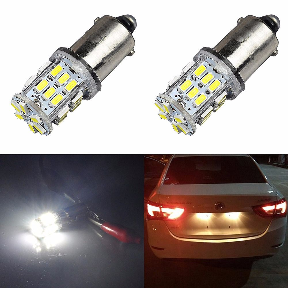 Aglint 2pcs Ba9s T4w Led 3014smd 30 Led 12 Volt Auto Led Clearance Light Tail Light Bulb White Car Lights Car Led Tail Light
