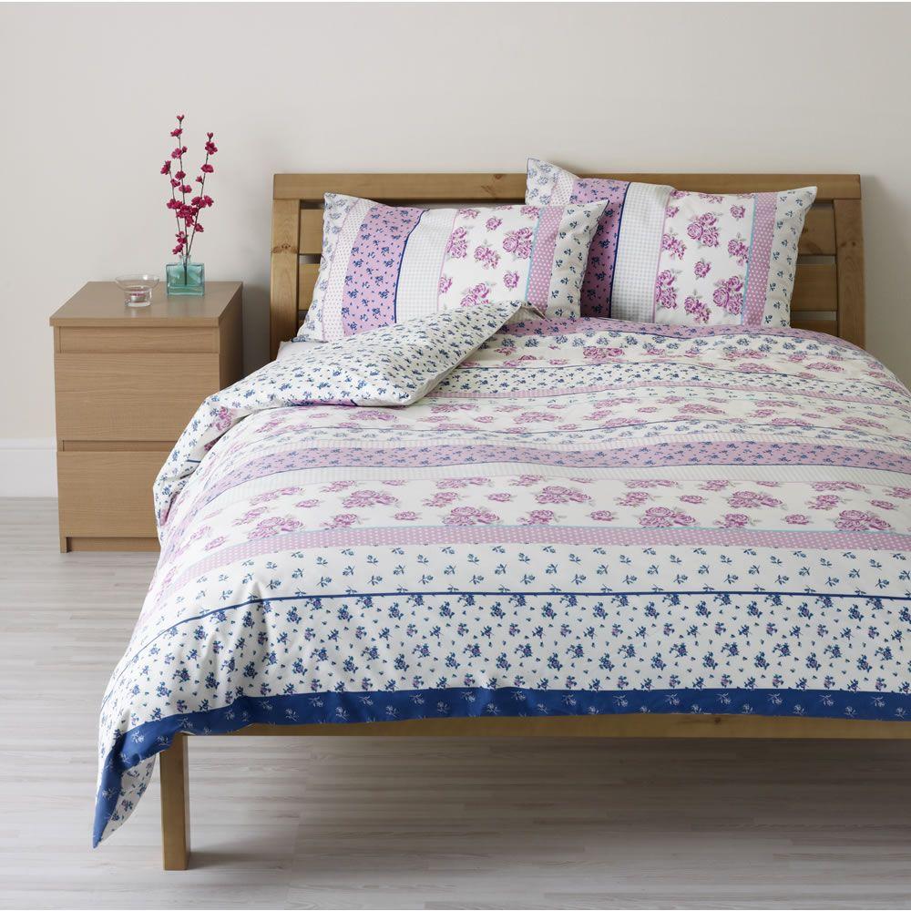 Large Image Of Wilko Floral Duvet Set Pink Double Opens In A New Window Floral Duvet Sets Duvet Sets Bedding Essentials