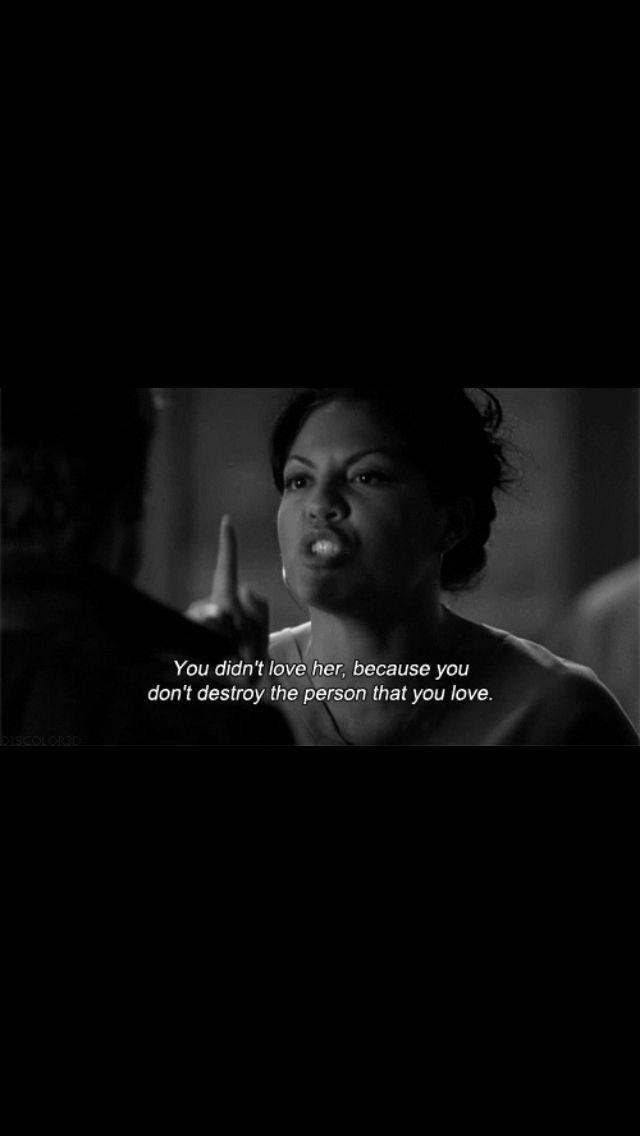 Callie No La Amabas Porque No Destruyes A La Persona Que