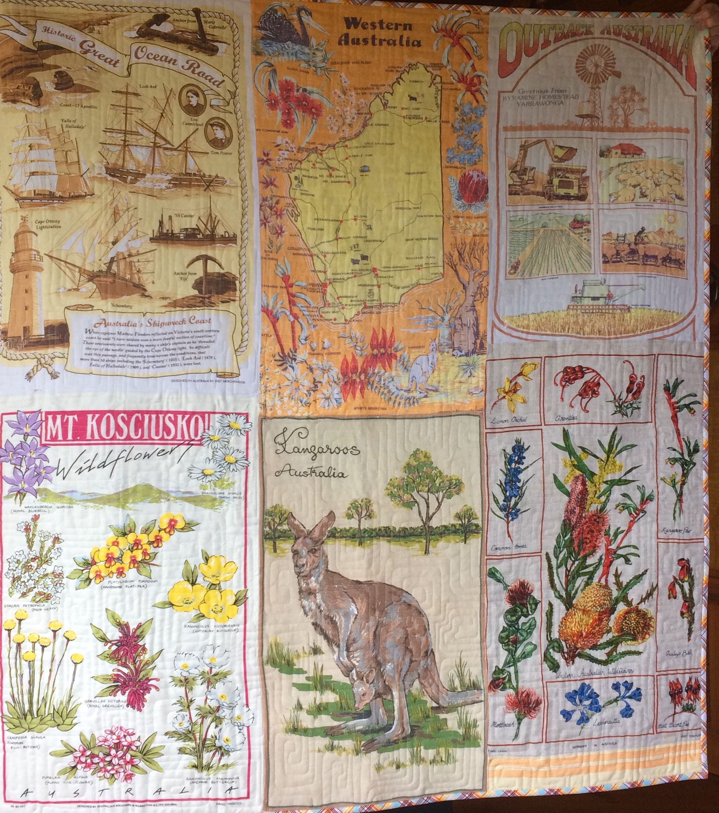 Love The Washed Out Faded Look Of This Tea Towel Quilt