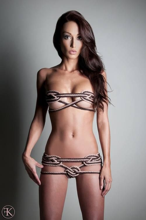 Women tied up in lingerie