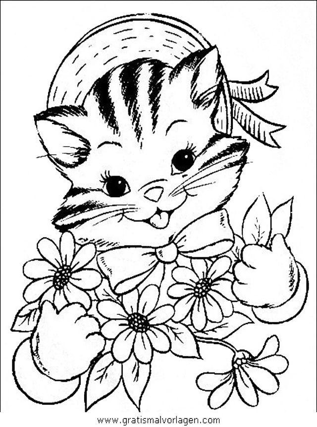 katzen36 in tiere gratis malvorlagen  vintage coloring