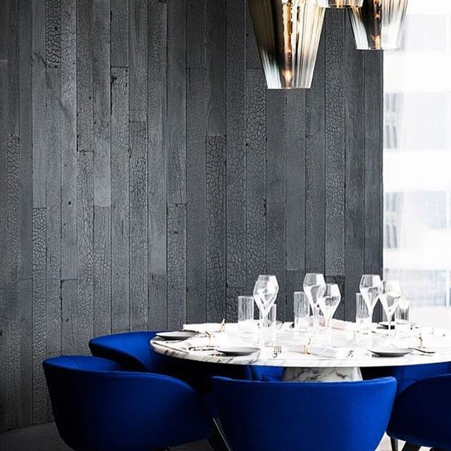 Best Marble Dining Table With Vibrant Cobalt Blue Chairs Love 400 x 300