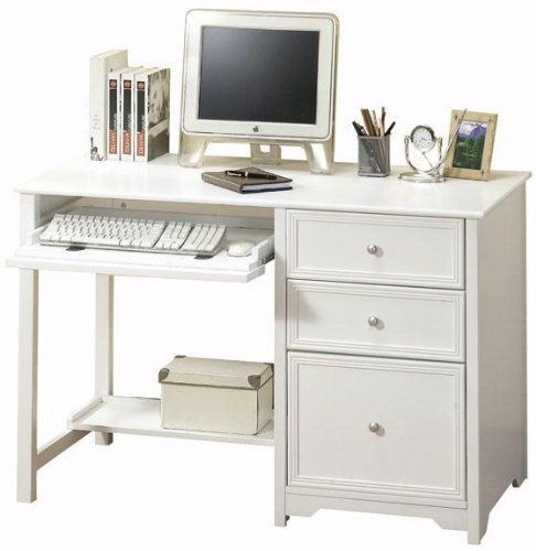 Oxford computer desk with shelf 46w white by home decorators collection