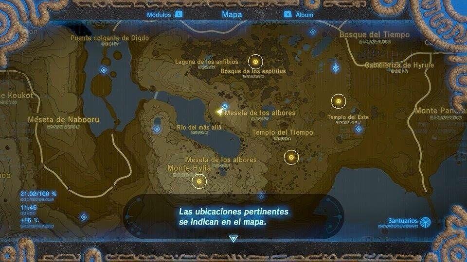 Nombre Legend Of Zelda Breath Of The Wild The Champion Ballad Comentario Uneteanintendo Con La Siguiente Fase De Legendofz Templo Del Tiempo Mapas Zelda