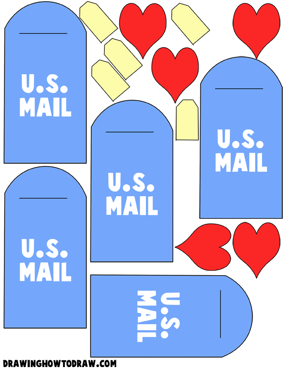 Valentine's Day All Crafts Crafts | ... Cute US Mailbox with Heart Letter Valentines Day Cards Craft for Kids