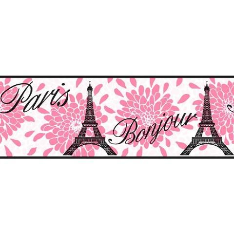 Black and Pink Geometric Pennant Border | Bedroom - Girls ...