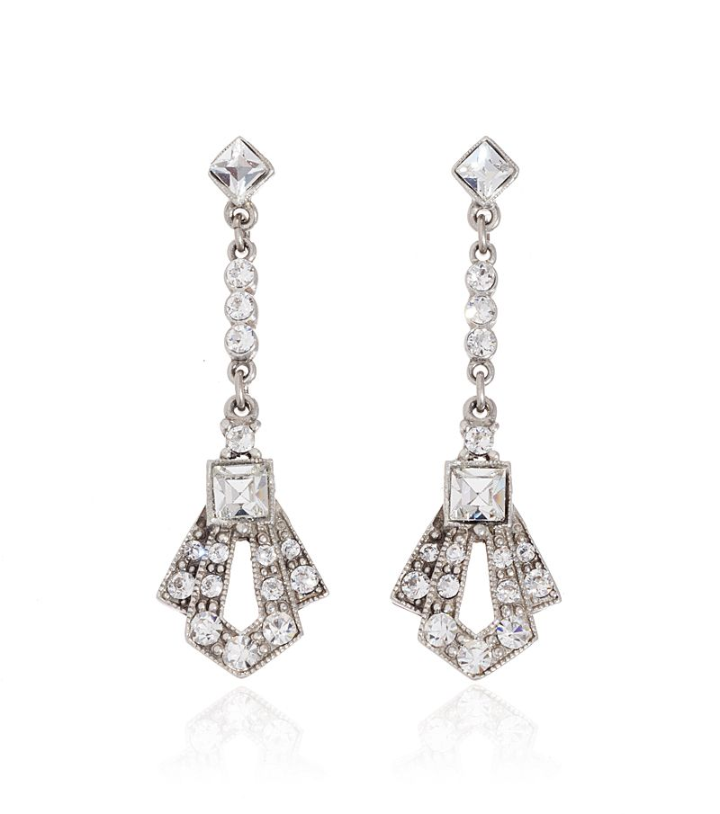 Bridal Crystal Gatsby Earring by Ben Amun | Thomas Laine ...