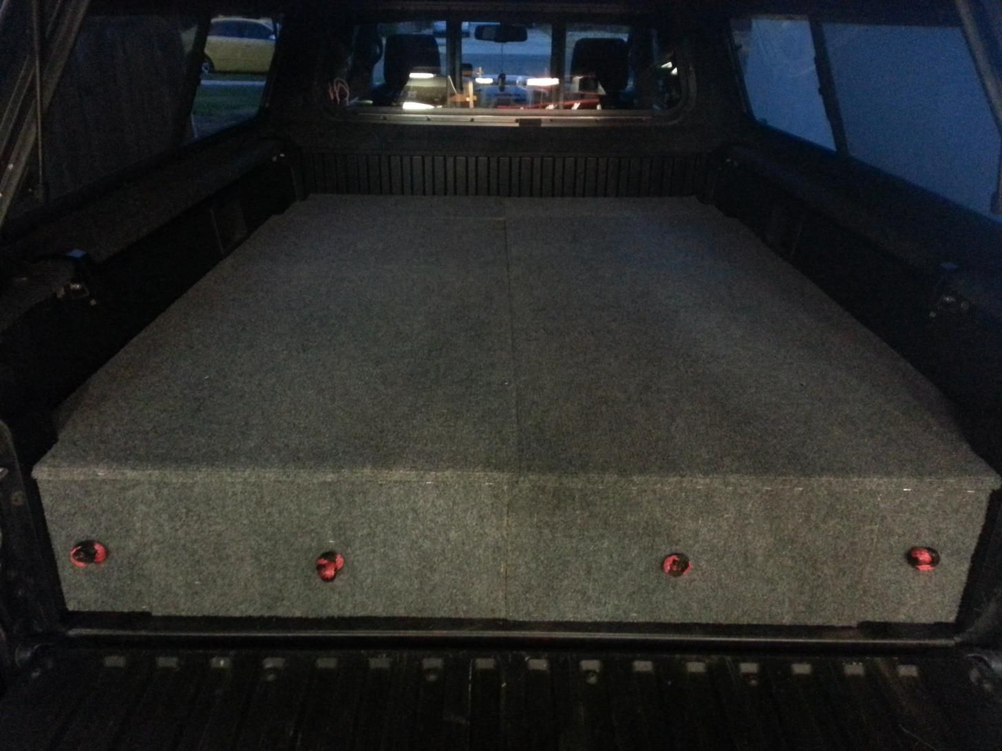 Truck Bed RV Phase I in 2020 Truck bed drawers, Truck