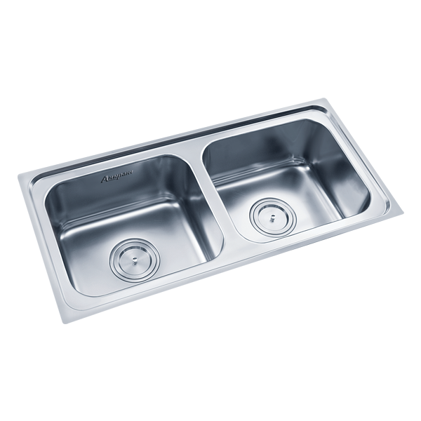 Buy Double Sink 303a Glossy In Sinks Through Online At Nirmankart Com Double Sink Sink Double Bowl Sink
