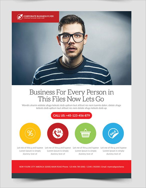 Fabulous-Business-Flyer-Template-For-Freejpg (585×754) Drew - free leaflet template word