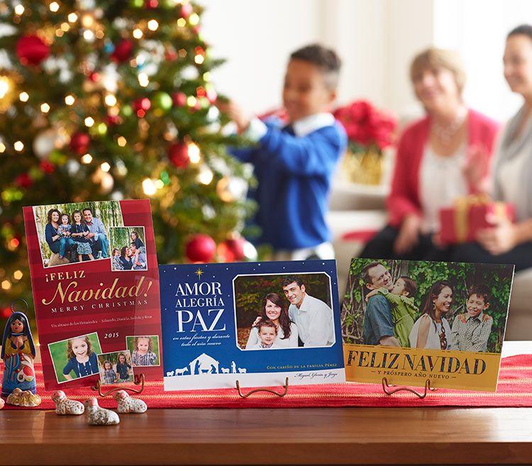 Feliz navidad cards custom spanish gifts shutterfly