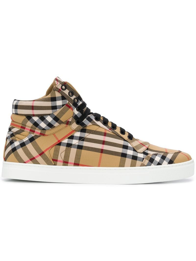026a37cfac7 BURBERRY CLASSIC CHECK HIGH.  burberry  shoes