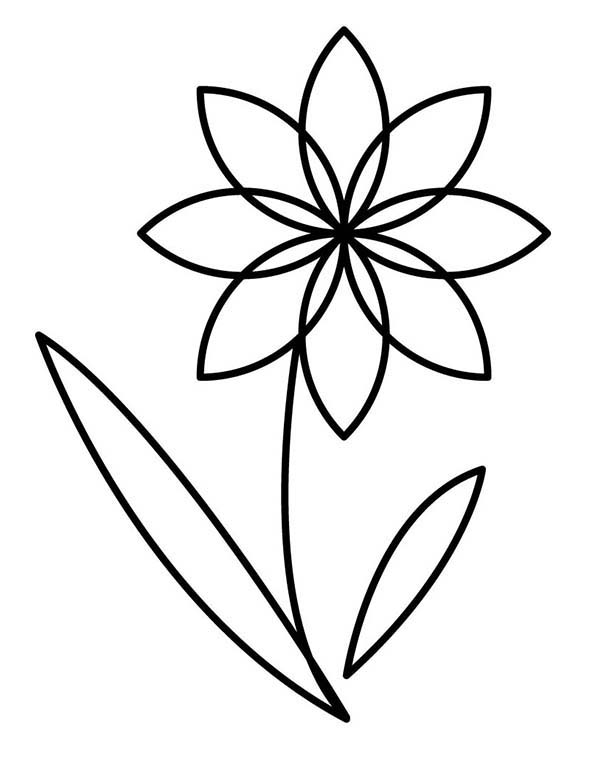 Flower Outline Coloring Page Kids Play Color Flower Coloring Pages Flower Outline Printable Flower Coloring Pages