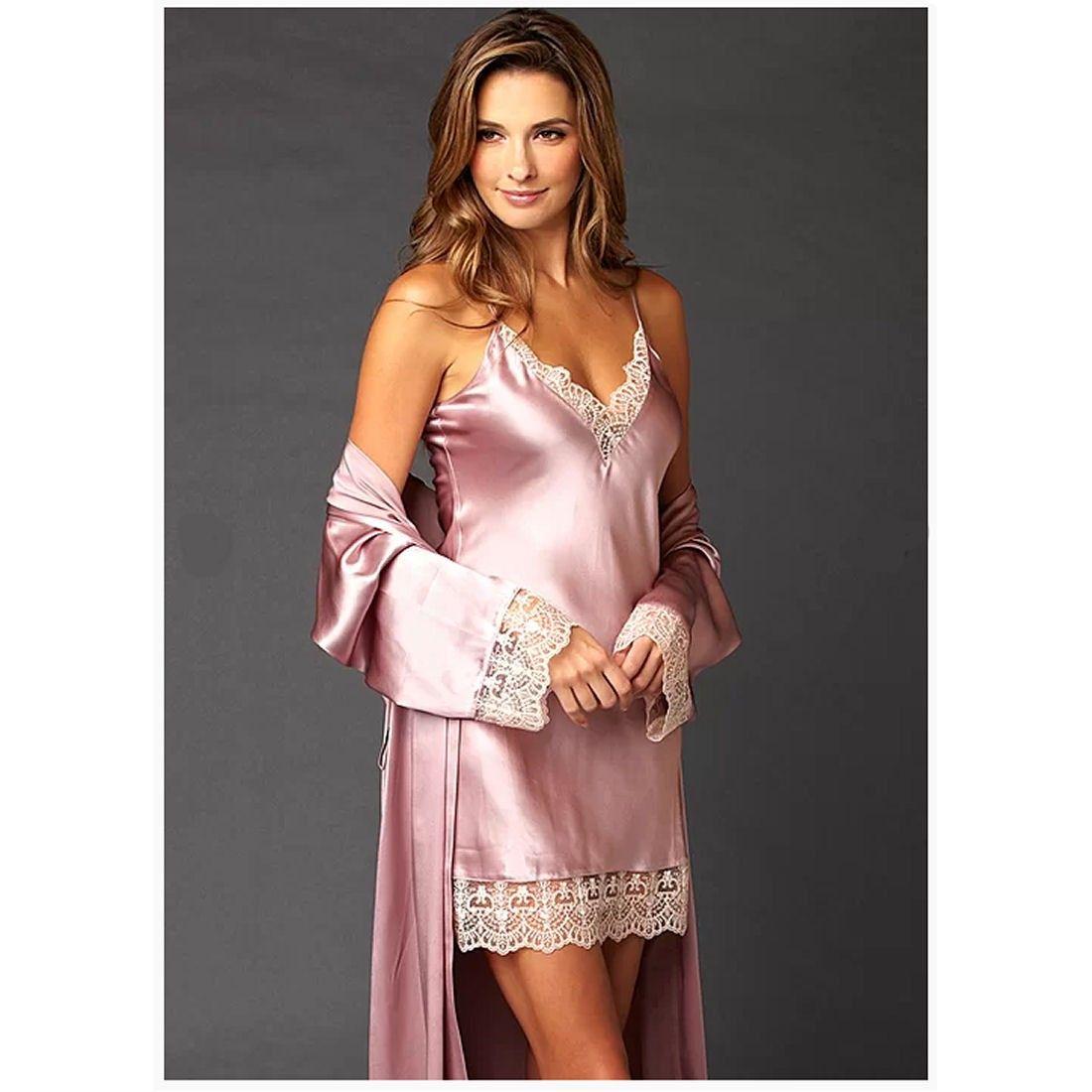 Julianna Rae Le Soir Silk Short Chemise Nightgown  f27ca06ed