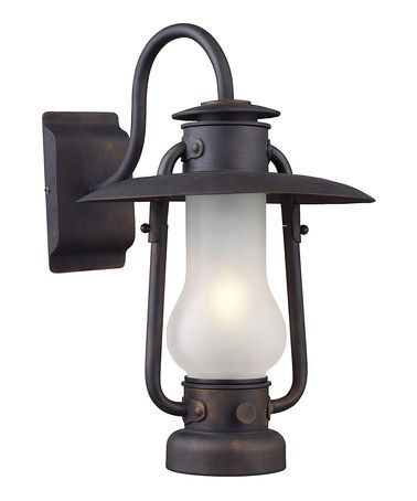 Another great find on #zulily! Matte Black One-Light Chapman Sconce #zulilyfinds