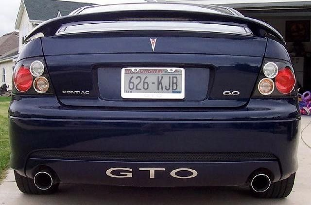 2005 Gto Rear Valance Painted To Match Car And Added Stainless Steel Inserts 2006 Pontiac Gto Gto 2005 Gto