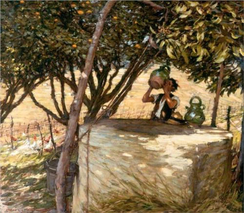At the Well - Henry Herbert La Thangue