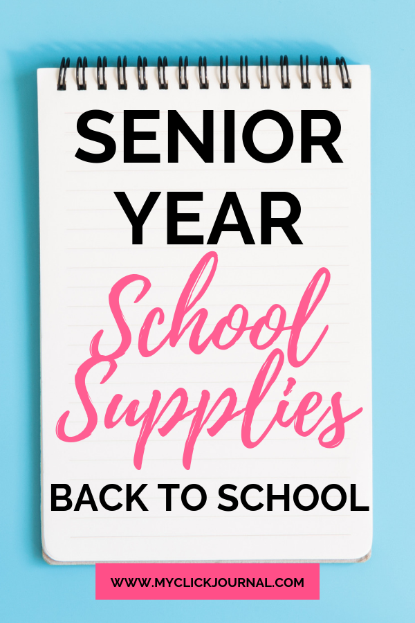Here are the school supplies you need for senior year in high school! With a fre…