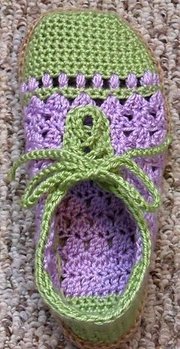Ravelry: ChalynMyers' Pearl Slippers