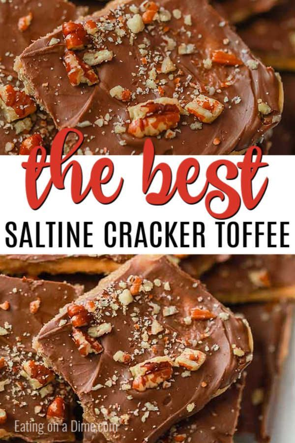 Saltine Toffee Recipe {AKA Christmas Crack} - Eating On A Dime