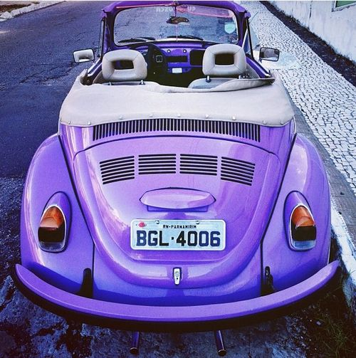 Marvelous Awesome, Old VW Beetle Convertible Painted In My Favorite Color   Purple!  LIGHT PURPLE