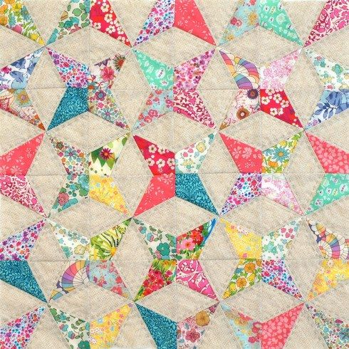 Miniature Quilt Patterns Paper Pieced : Kaleidescope Foundation Paper Pieced Cushion or Mini Quilt PDF - Tied with A Ribbon Quilts We ...