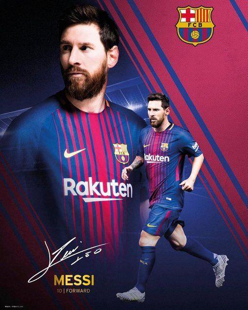 Barcelona Lionel Messi 2017-18 Action Poster