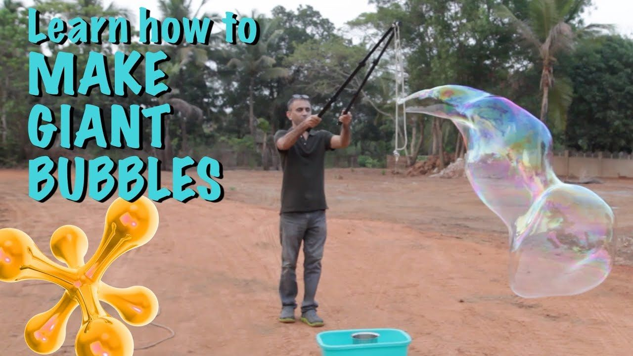 How to Make Giant Bubbles YouTube (With images) Giant