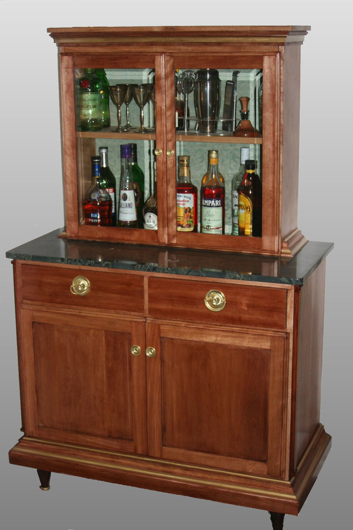 Exceptionnel This Liquor Cabinet Was Designed To Complement An Existing French Empire  Style Vitrine (glass Display Case) . All The Trim Moldings Were Custom Made  Iu2026