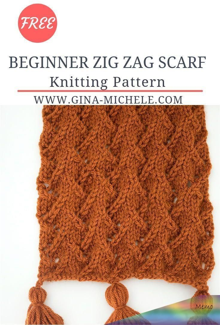 Zig Zag Scarf Knitting Pattern- a fun stitch that only ...