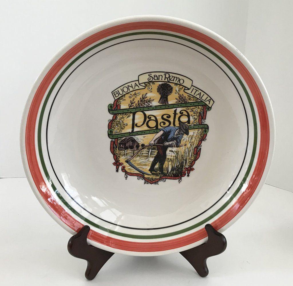 Vintage Made in Italy For Himark Buona Italia San Remo Italia 12  Pasta Bowl & Vintage Made in Italy For Himark Buona Italia San Remo Italia 12 ...