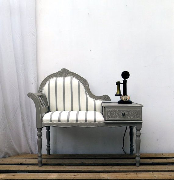 SOLD Vintage Telephone Hallway Window Seat Bench SOLD | Pasillos ...