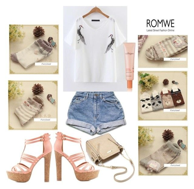 """Romwe!"" by fadilaa-1 ❤ liked on Polyvore featuring Fairyland, It's skin and Charlotte Russe"