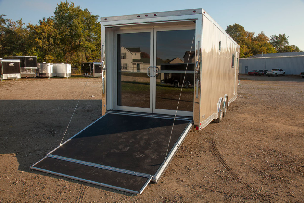 How To Install French Doors On A Cargo Trailer Google Search Installing French Doors Utility Trailer Camper Utility Trailer