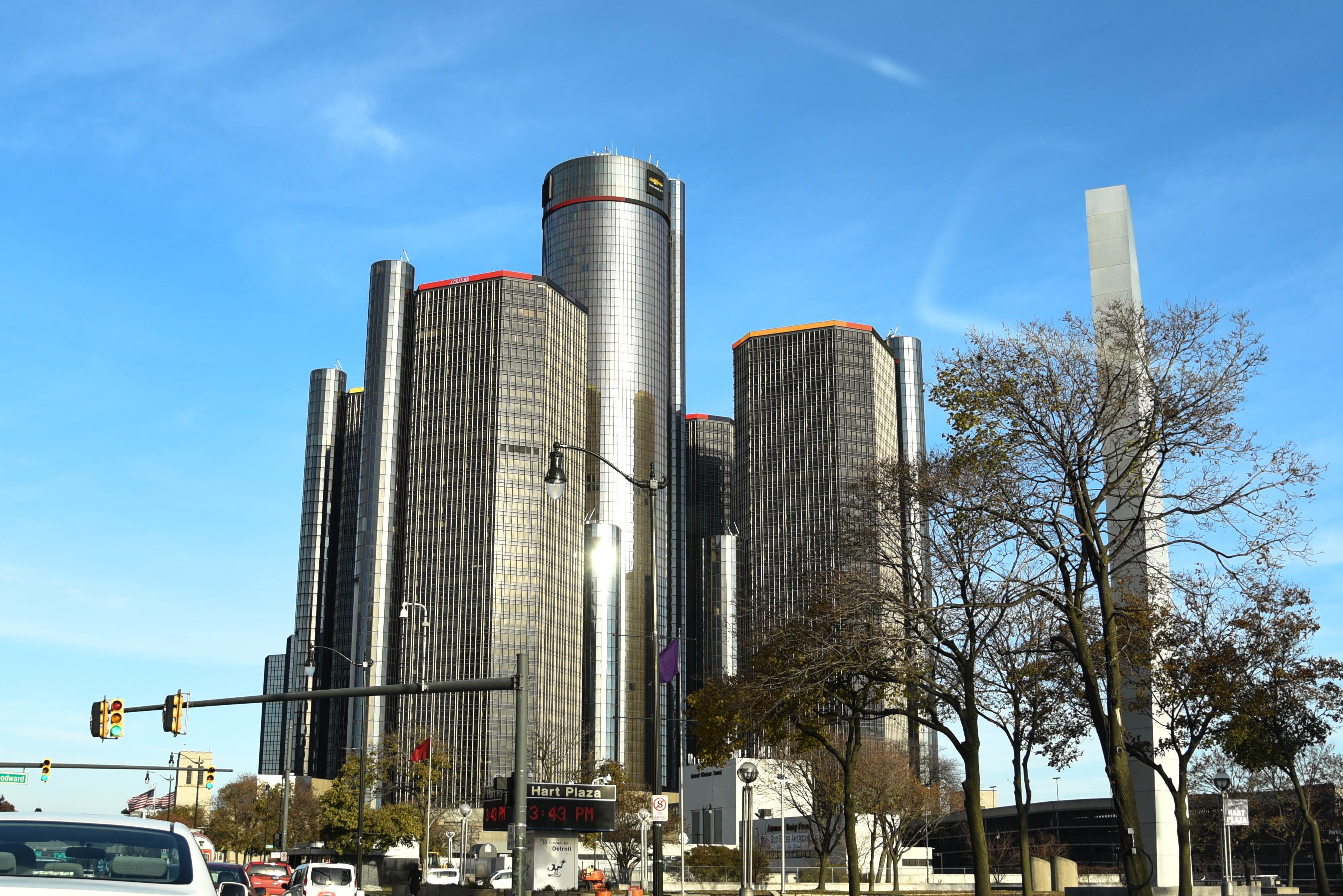 Detroit, Michigan, City, Downtown, Motor City, Skyscrapers ...
