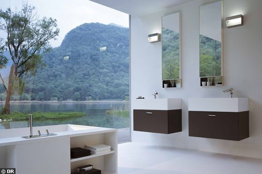 Stunning Salle De Bain Vasque Separe Images - Awesome Interior ...