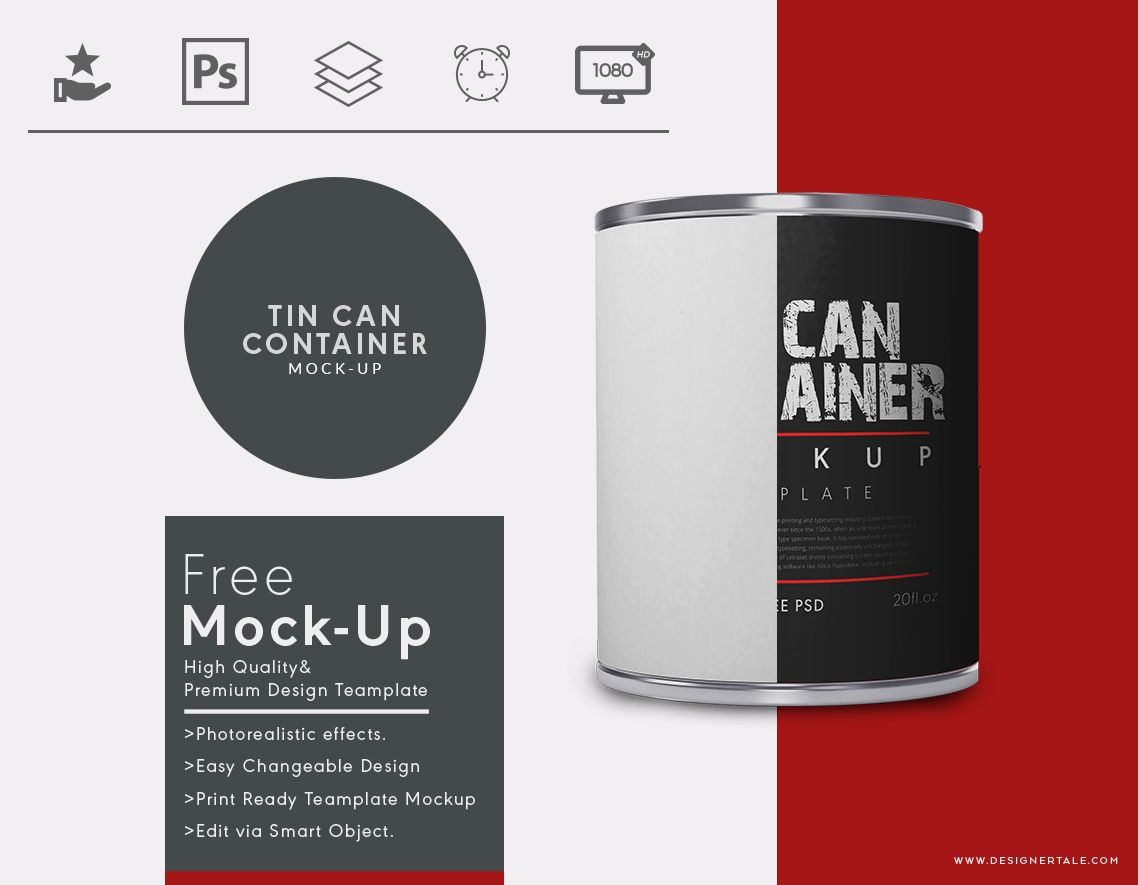Cylindrical Tin Container Mockup Designertale Label Templates Mockup Templates Packaging Mockup