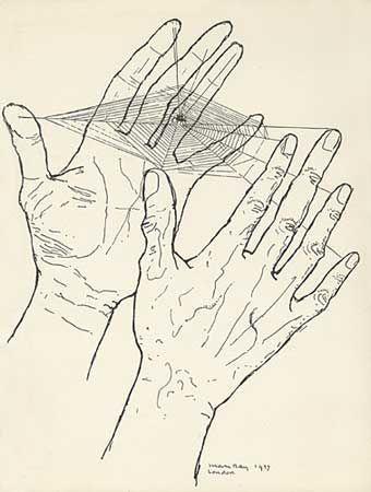 La espera (Las manos libres), de Man Ray, ilustrando los poemas de Paul Eluard. París, 1937.