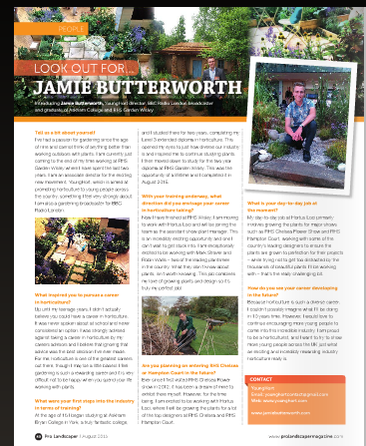 @ProLandscaperJW thnx 4 gt piece on Jamie Butterworth  @Gardener_jamie about to join the fabulous team @HortusLoci