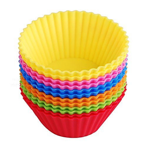 Silicone Baking Cups Muffin Cupcake Liners Molds Set 12 Pack