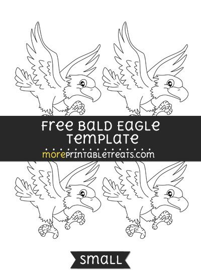 free bald eagle template small shapes and templates printables