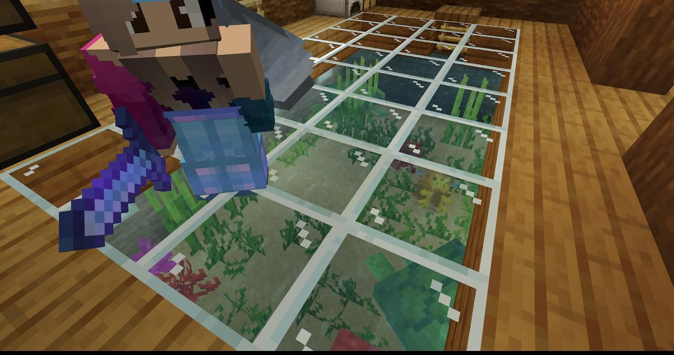 My Sister Made An Aquarium Under Her House And Wanted To Go Viral By U Orbitalphoton445 In 2020 Minecraft Blueprints Minecraft Minecraft Houses